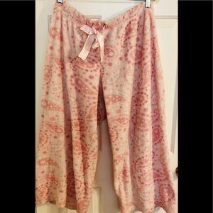 Laura Ashley Pink Fleece Pajama Pants Large